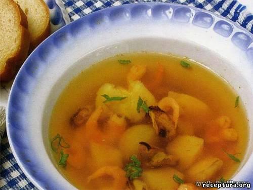 Грибной суп с бульоном